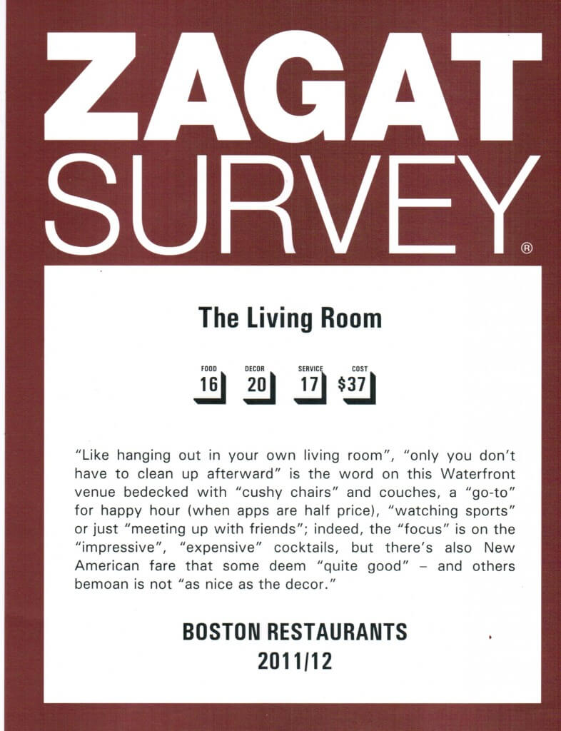 Zagat Survey Rated Excellent